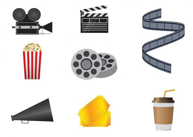 Conjunto de ícones de cinema