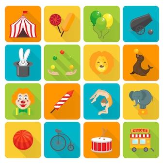 Conjunto de ícones de circo