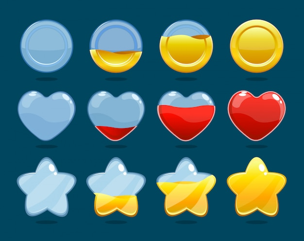 Conjunto de ícones de classificação de jogos