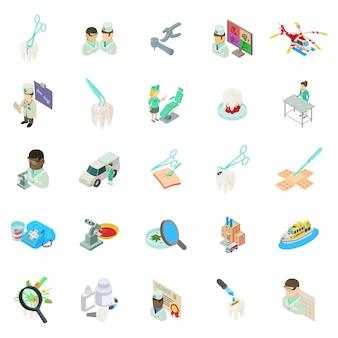 Conjunto de ícones de clínica médica