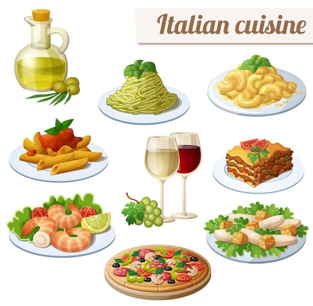 Conjunto de ícones de comida isolado no fundo branco