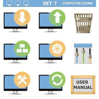 Conjunto de ícones de computador 7