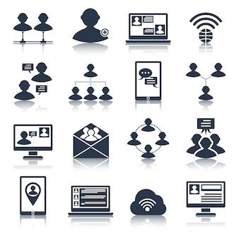 Conjunto de ícones de comunicação