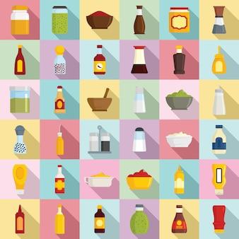 Conjunto de ícones de condimento