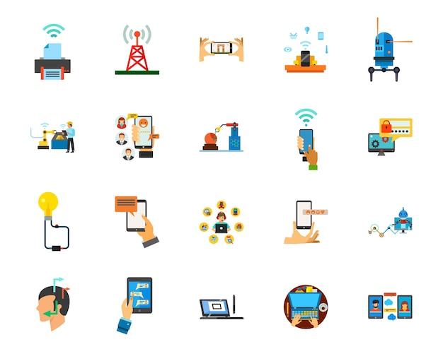 Conjunto de ícones de conexão