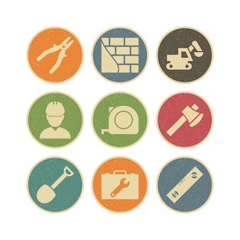 Conjunto de ícones de construção para uso pessoal e comercial