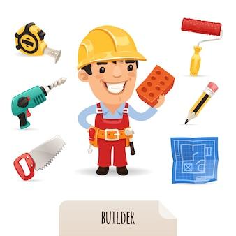 Conjunto de ícones de construtores
