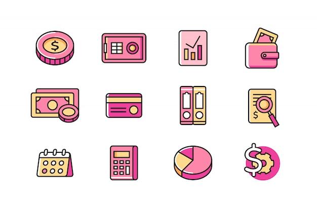 Conjunto de ícones de contador