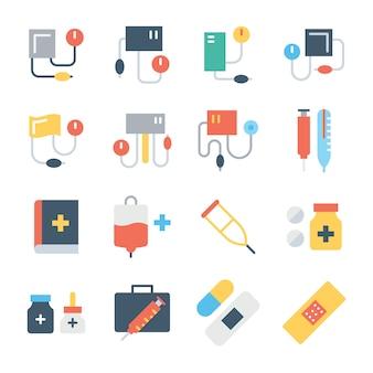 Conjunto de ícones de cores médicas