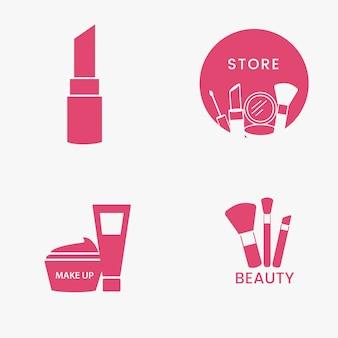 Conjunto de ícones de cosméticos de beleza