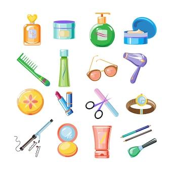 Conjunto de ícones de cosméticos