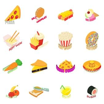 Conjunto de ícones de cozinha do país