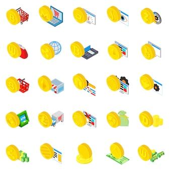 Conjunto de ícones de criptomoeda