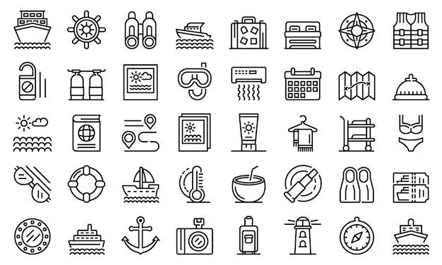 Conjunto de ícones de cruzeiro