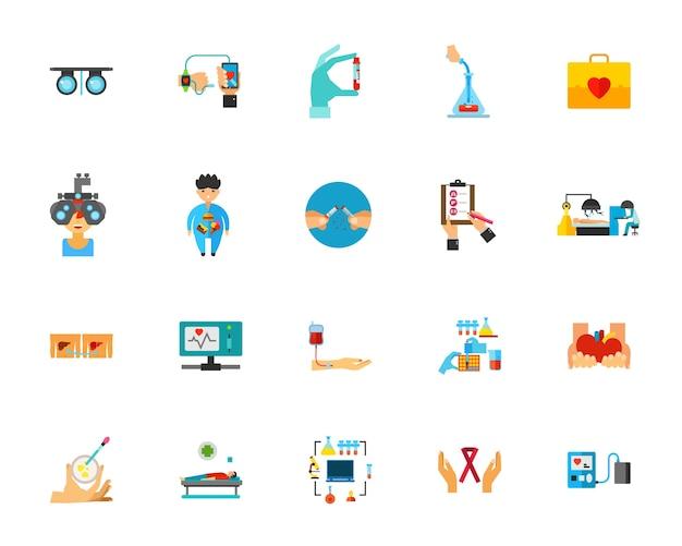 Conjunto de ícones de cuidados de saúde