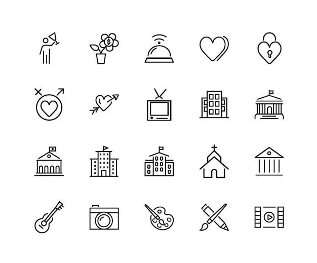 Conjunto de ícones de cultura