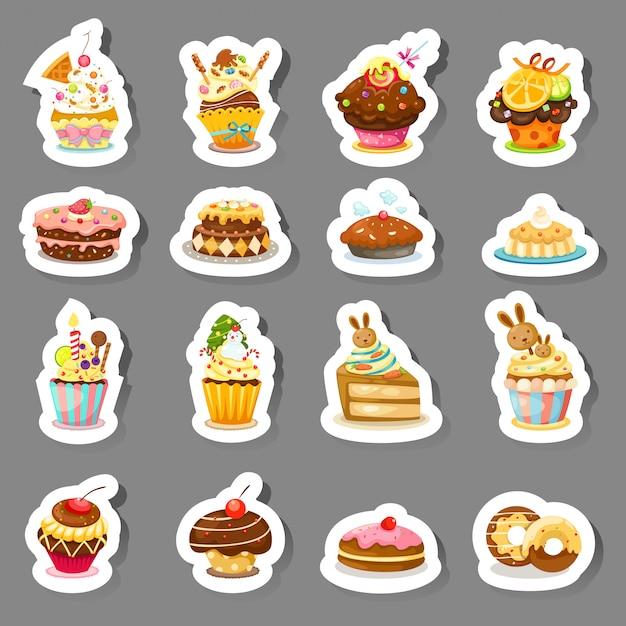 Conjunto de ícones de cupcake