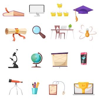 Conjunto de ícones de desenho on-line