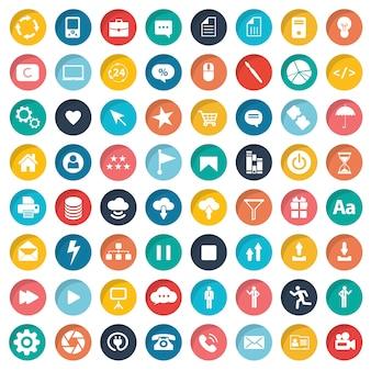 Conjunto de ícones de design da Web