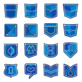 Conjunto de ícones de design de bolso