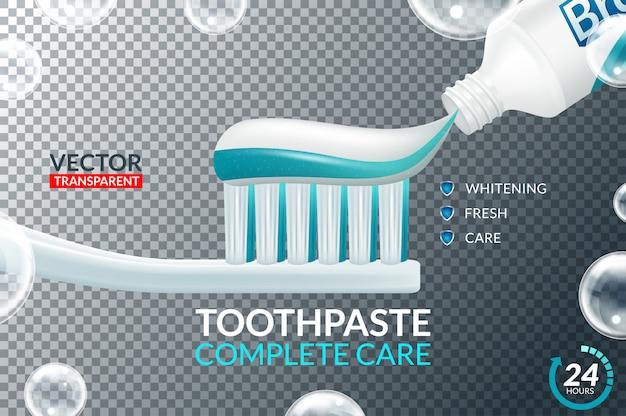Conjunto de ícones de design de tubos de creme dental e escova de dentes