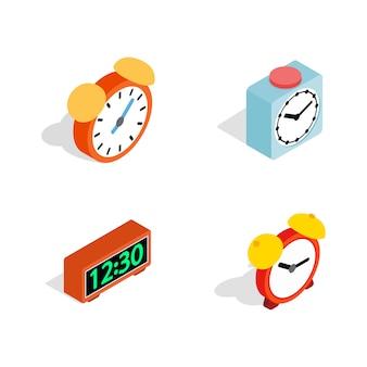 Conjunto de ícones de despertador