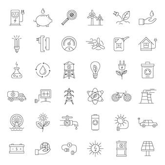 Conjunto de ícones de dia de ecologia