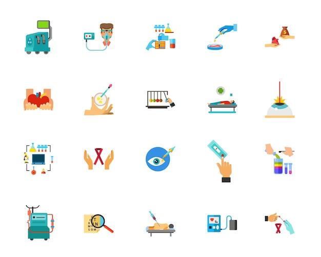 Conjunto de ícones de diagnóstico médico
