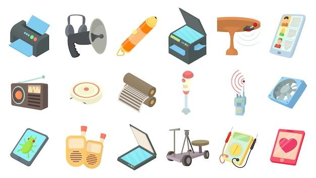 Conjunto de ícones de dispositivo elétrico