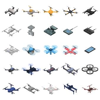 Conjunto de ícones de drone