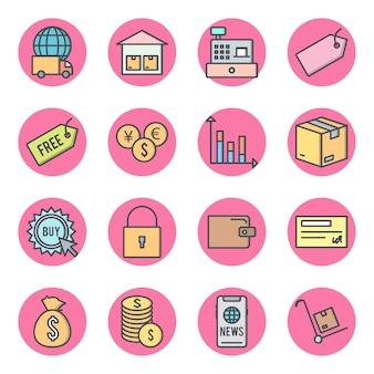 Conjunto de ícones de e-commerce