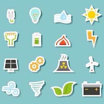 Conjunto de ícones de ecologia
