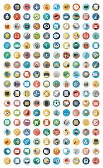 Conjunto de ícones de educação moderna vector