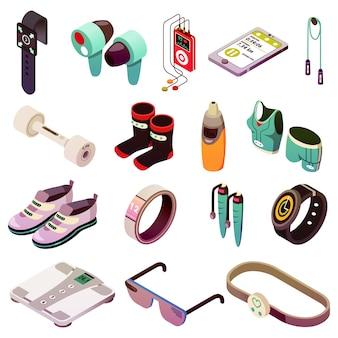 Conjunto de ícones de eletrônica de esporte