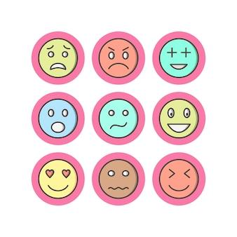 Conjunto de ícones de emoji
