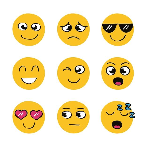 Conjunto de ícones de emojis