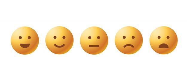 Conjunto de ícones de emoticon de gabarito