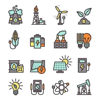 Conjunto de ícones de energia