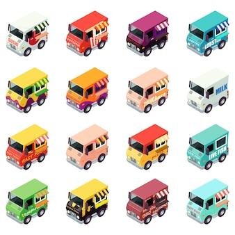 Conjunto de ícones de entrega de comida