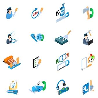 Conjunto de ícones de entrega de ferramentas