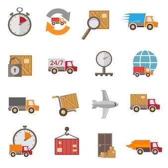 Conjunto de ícones de entrega