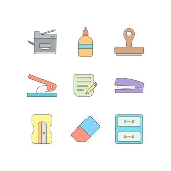 Conjunto de ícones de escritório