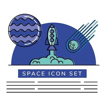 Conjunto de ícones de espaço