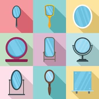 Conjunto de ícones de espelho
