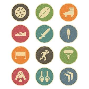 Conjunto de ícones de esportes e jogos para uso pessoal e comercial