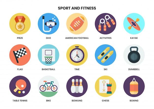 Conjunto de ícones de esportes para negócios