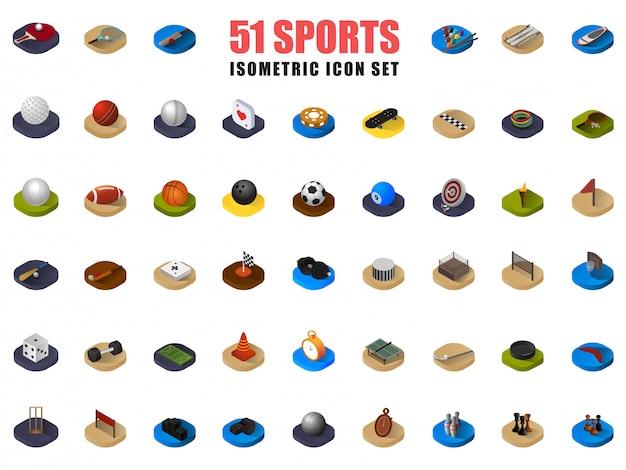 Conjunto de ícones de esportes.