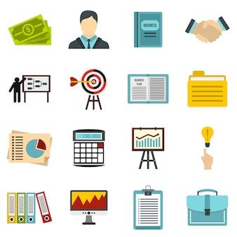 Conjunto de ícones de estratégia de negócios
