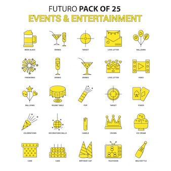 Conjunto de ícones de eventos e entretenimento