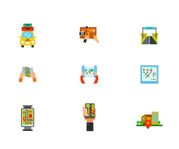 Conjunto de ícones de exploração